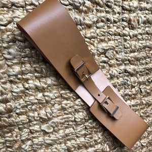 Maison Boinet French Leather and Gold Waist Belt